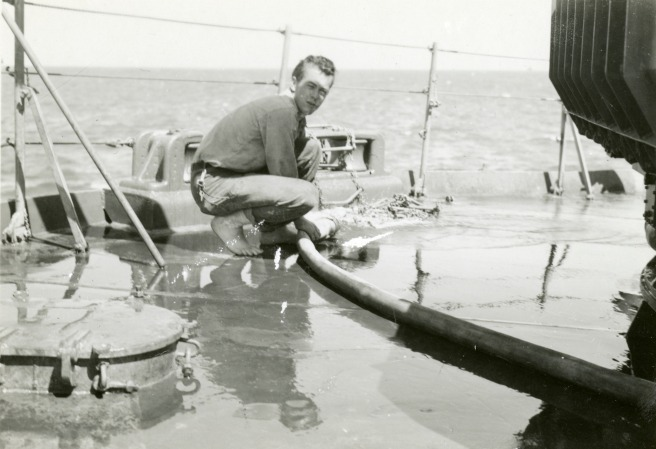 sailor cleaning