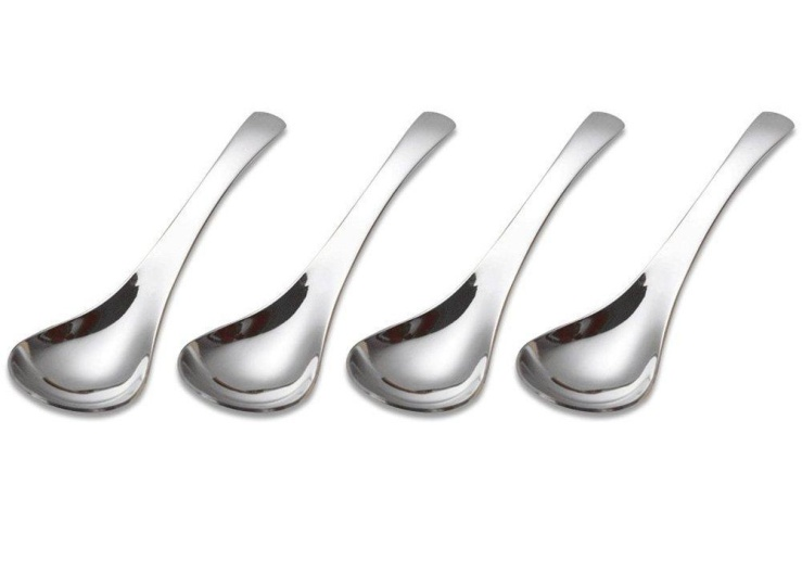 ocharzy-thick-heavy-weight-stainless-steel-soup-spoon-coffee-spoon-table-dinner-spoons-6-5-inches-set-of-4-large